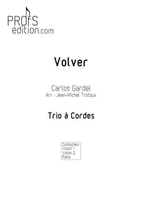 Volver - Duo Violon et Piano - GARDEL C. - front page