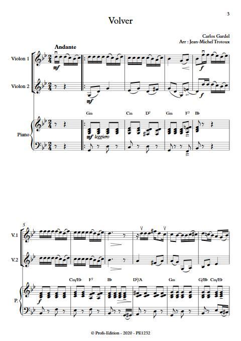 Volver - Duo Violon et Piano - GARDEL C. - app.scorescoreTitle