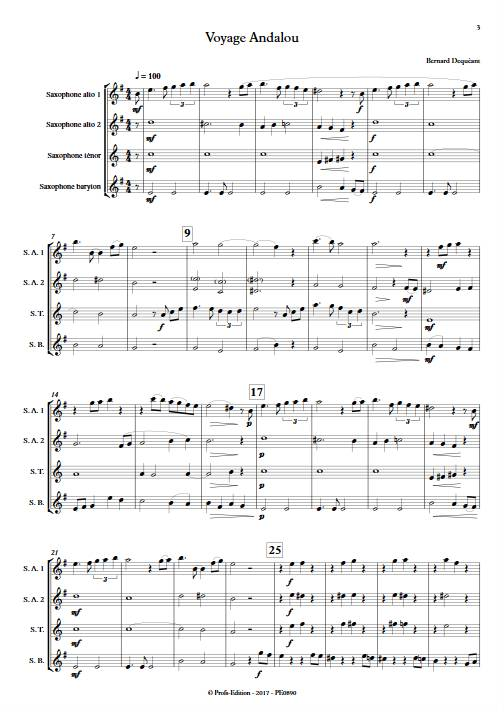 Voyage Andalou - Quatuor de Saxophones - DEQUEANT B. - app.scorescoreTitle